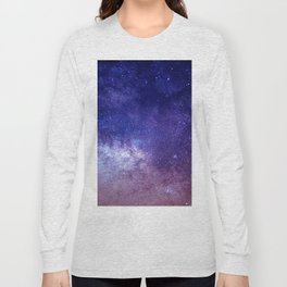 STARS - NIGHT - GALAXY - PURPLE - PINK - INDIGO Long Sleeve T-shirt