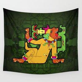 Yaxchilan - Maya Tiger Wall Tapestry