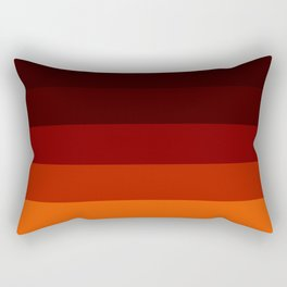 Orange Ombre Stripes Rectangular Pillow