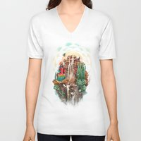 peru V-neck T-shirts featuring peru by Tanya_tk