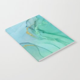 Abstract alcohol ink painting - Aprilette Notebook