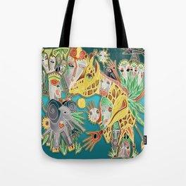 giraffe shaman Tote Bag