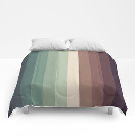 autumn season color pattern - striped fall colors Comforters