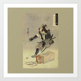 Samurai worrior ukiyoe print Art Print