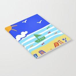 Naive Beach - Blue & Gold  Notebook