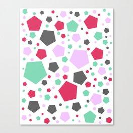 Bright Stones Pattern Canvas Print