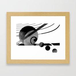 Black and white geometry 2016/001 Framed Art Print