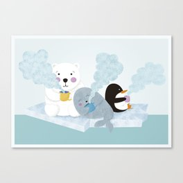 polar coffe Canvas Print
