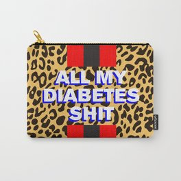 All My Diabetes Shit™ (Leopard Love Stripe) Carry-All Pouch