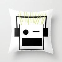 blondie Throw Pillows featuring Blondie by GPM Arts
