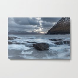 Dark skies and wild waters Metal Print