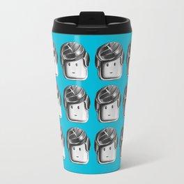 Minifigure Pattern – Blue Travel Mug