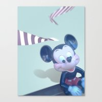 mickey Canvas Prints featuring Mickey? by smooz