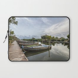Boats in a lagoon port Laptop Sleeve