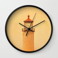 lighthouse Wall Clocks featuring LIGHTHOUSE by Teresa Chipperfield Studios