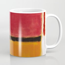 1949 Untitled (Violet, Black, Orange, Yellow on White and Red) by Mark Rothko Coffee Mug