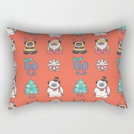 Merry Pugsgym Meditation Rectangular Pillow