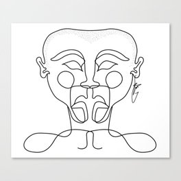 Sophisticated Scalp Canvas Print