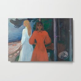 Edvard Munch - Red and White Metal Print
