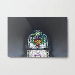 Stained Glass, Monastery, Arequipa, Peru Metal Print