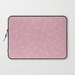 Pink Boobs Breast cancer awareness sisterhood power Laptop Sleeve