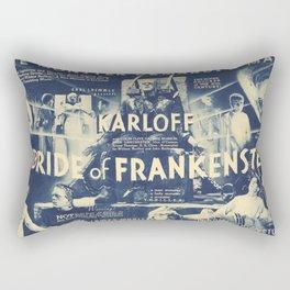 Bride of Frankenstein, vintage horror movie poster Rectangular Pillow