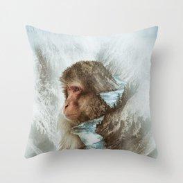 The Monkey River Throw Pillow