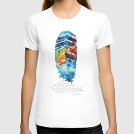 Colorful Feather Art -  Blessing - By Sharon Cummings T-shirt