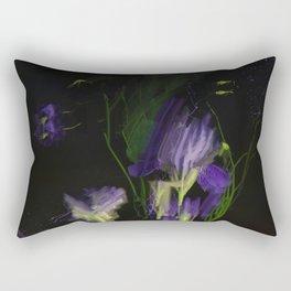 Night expression, irises and aquilegia Rectangular Pillow