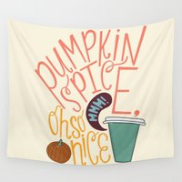 spice Wall Tapestries featuring Pumpkin Spice by Chelsea Herrick