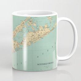 Vintage Map of Suffolk County NY (1895) Coffee Mug