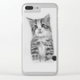 kitty kat Clear iPhone Case