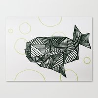 manatee Canvas Prints featuring Manatee  by Victoria Galinetti