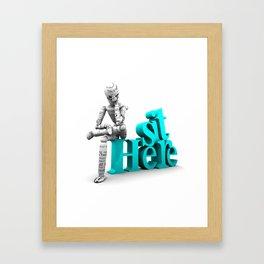 Sit Here Framed Art Print
