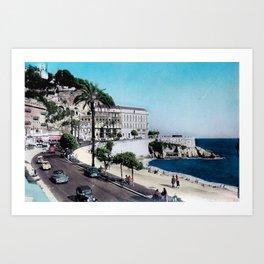 1950's Vintage Nice France Art Print