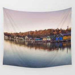 Dawn at the lake Wall Tapestry