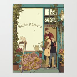 Buck's Flower Shop Poster