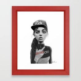 F***k Framed Art Print
