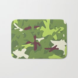 Camouflage military background. Bath Mat