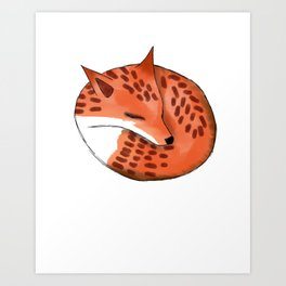 Woodland Creature Series: Fox Art Print