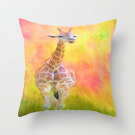 Tall Giraffe Loveliness  Throw Pillow