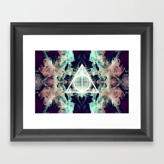 Deathly Hallows Framed Art Print