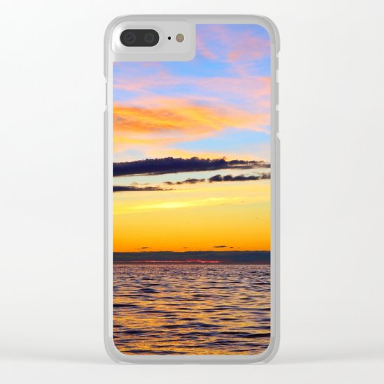 Zen Seascape Clear iPhone Case