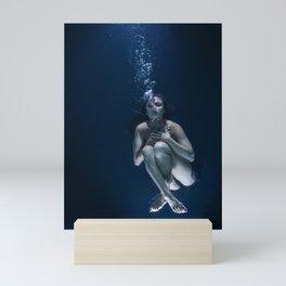Woman Underwater Mini Art Print