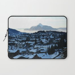 Twilight in the Ski Resort Laptop Sleeve