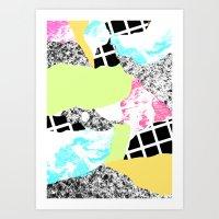 Cut and Paste Geo Texture Art Print