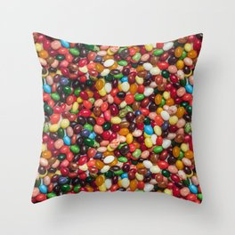 Gourmet Jelly Beans Candy Photo Pattern Throw Pillow