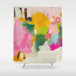 floral color study abstract art Shower Curtain
