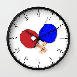 Pair Of Table Tennis Bats Wall Clock