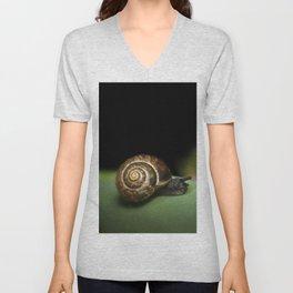 Garden snail Unisex V-Neck